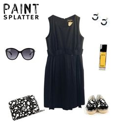 """""""Untitled #166"""" by krismonet ❤ liked on Polyvore featuring Chanel and paintsplatter"""