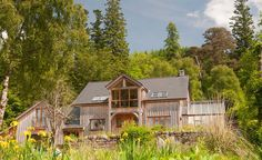 Lea Cottage bed and breakfast is in the heart of Strontian on the west coast of the highlands of Scotland. Self Build Houses, New Farm, Timber Cladding, City Break, Bed And Breakfast, Homesteading, Farmhouse Style, Building A House, Cottage