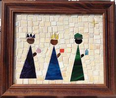 """8""""x10""""  Three kings   Mosaic by Omayra"""