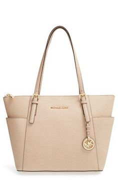 MICHAEL Michael Kors 'Jet Set' Leather Tote available at #Nordstrom Pinterest: @BrittanyNiemer ☾