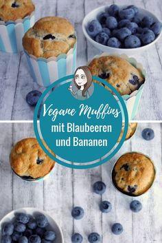Vegane Muffins Rezept mit Blaubeere Banane Kokosmus ohne Zucker mit Stevia Muffinrezept