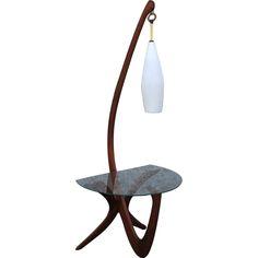 50's Walnut Floor Lamp
