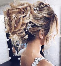 Featured Hairstyle: tonyastylist (Tonya Pushkareva); https://www.instagram.com/tonyastylist; Wedding hairstyle idea.