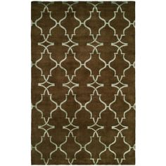 Portfolio Java/Brown Hand-Knotted Area Rug (6' x 9') (PF-344 69), Size 6' x 9' (Viscose, Print)