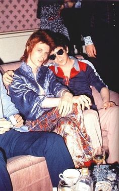 Bowie with Lou Reed