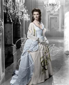 "Vivien Leigh as Emma, Lady Hamilton from the movie ""That Hamilton Woman"", 1941. Costume design by Renè Hubert."