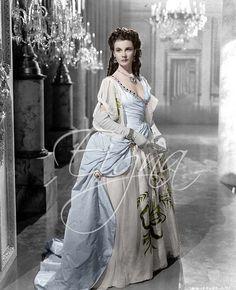 "Vivien Leigh as Emma, Lady Hamilton from the movie ""That Hamilton Woman"", 1941. Costume design by Renè Hubert."