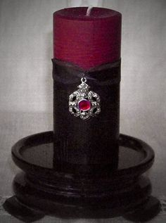 GOTHICA Vampire Blood Red and Black Ritual by ArtisanWitchcrafts, $24.95