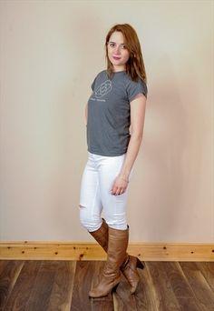 Vintage Leather  Knee Boots UK 5.5