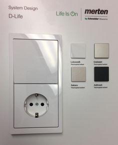 Merten D-Life Schalter und Steckdosen
