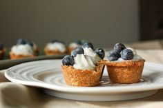 mini tarts : coconut + blueberry mini tarts {Dairy & Egg Free} adapted from Anna Olsen recipe (via One Foodie's Culinary Adventures)