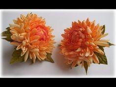 МК Хризантемы из фоамирана на резинке / Chrysanthemum of foamIran - YouTube