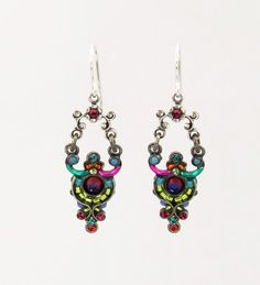 Amazon.com: Firefly Multi Color Bead and Swarovski Crystal Drop Earrings Best Price: Firefly: Jewelry