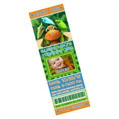 Dinosaur Train Scratch-Off Ticket Invitations