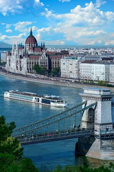 The popularity of River Cruising in Europe has exploded over the past few years and is one of the best ways to see the historical interior of the continent. Many of these river voyages are themed. River Cruises In Europe, Cruise Europe, Cruise Travel, Cruise Vacation, Vacation Trips, Vacation Spots, Tourist Spots, Dream Vacations, Danube River Cruise