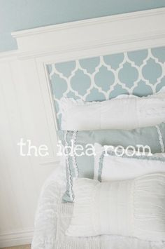 Patterned Painted Headboard