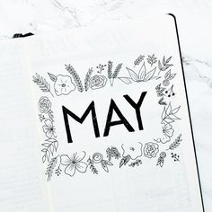 Beautiful, minimalist floral cover page by Great bullet journal ideas and inspiration. Bullet Journal Contents, Bullet Journal Cover Page, Bullet Journal Hacks, Bullet Journal Printables, Journal Template, Bullet Journal Spread, Bullet Journal Layout, Bullet Journal Ideas Pages, Journal Covers