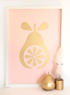 Pink background with gold metallic overlay. size and printed on white linen c