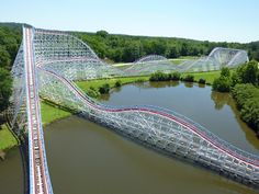 Layout of the fun-packed Great American Scream Machine at Six Flags Over Georgia