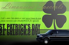 St Patrick's Day Limo Service in Los Angeles, Orange County and Riverside