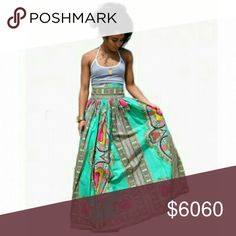[Plus] COMING SOON AFRICAN PRINT MAXI SKIRT Arriving Wednesday, March 15th  High-waist.   Size 1X = 14/16 Breaux-Mode Skirts Maxi