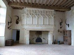 """Résultat de recherche d'images pour """"cheminee chateau la motte glain"""""""