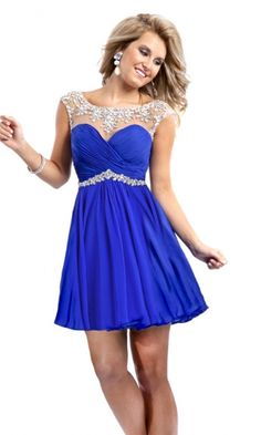 A-line Halter Chiffon Formal Dresses/Short Cocktail Dresses with Beading Ruffles