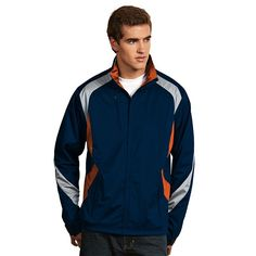 Men's Antigua Tempest Water-Resistant Golf Jacket, Size: Large, Blue Other