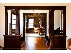 Historic Upmeyer House, one of the most fabulous houses in all of Lane/Linn County! Home Renovation, Home Remodeling, 1900s House, Craftsman Bungalows, Craftsman Houses, Craftsman Trim, Craftsman Interior, Bungalow Homes, Wood Trim