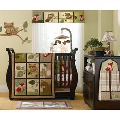 Carter's Tree Tops Nursery Decor. really thinking about going with a forest animal nursery theme.