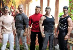 OOAK Male Action Figures as Fashion Dolls.