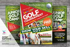 Junior Golf Event Flyer Templates by kinzi21 on @creativework247