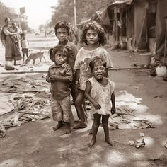 India's slum kids. I just want to hold them, feed them, and take them all home.