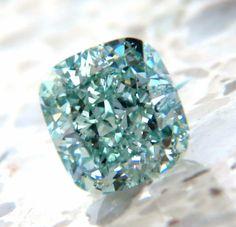 GIA Certified 1.53ct Fancy Intense Blue Green Diamond Vs1