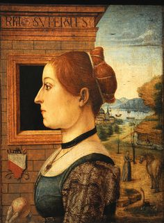 Portrait of a Woman, possibly Ginevra d'Antonio Lupari Gozzadini Attributed to the Maestro delle Storie del Pane (Italian (Emilian), active late 15th century) ca. 1485-95