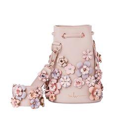 Marina Hoermanseder leather bucket bag kasper flowers rose