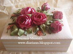 Ribbon embroidery gift box handmade by Suzana Mustafa (zsi_trading@yahoo.com)