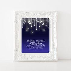 Twinkle Twinkle Little Star Printable Nursery by YourLittlePoster