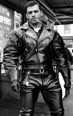 Men's Leather Jackets: How To Choose The One For You. A leather coat is a must for each guy's closet and is likewise an excellent method to express his individual design. Leather jackets never head out of styl Leather Fashion, Leather Men, Leather Boots, Black Leather, Biker Leather, Leather Jackets, Cigar Men, Leder Outfits, Man Smoking