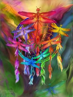 Dragonflies In a rainbow of Chakra colors Taking me on a journey of Hope and healing Into my dreams.