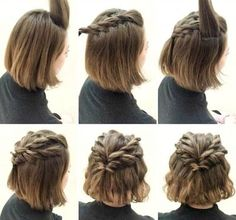 examples of short hair hairstyles: trends that exemples de coiffure cheveux court : les tendances qui vont marquer l'été de – Maison 2018 examples of short hair hairstyles: the trends that will mark the summer of – House 2018 - Prom Hairstyles For Short Hair, Trendy Hairstyles, Braided Hairstyles, Wedding Hairstyles, Hairstyles 2016, Homecoming Hairstyles, Hairstyles For Medium Length, Teenage Hairstyles, Quinceanera Hairstyles