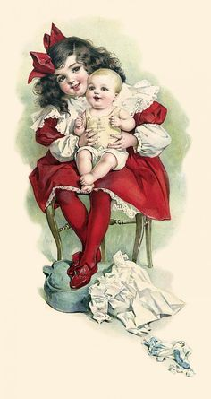Нежное, винтажное...дети на открытках художницы Мод Хамфри / Maud Humphrey