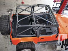Would it be foolish of me to try and install my own sport cage type of thing, this may be a really dumb question, I am not too familiar with jeeps yet. Cj Jeep, Jeep Cj7, Jeep Truck, Jeep Wranglers, Orange Jeep, Jeep Wave, Cool Jeeps, Jeep Accessories, Off Road