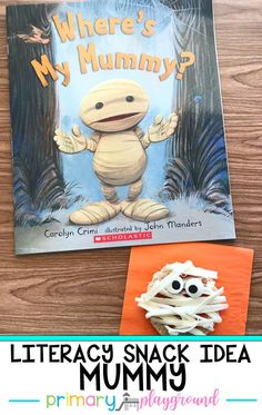 Where's My Mummy? is an adorable book to read for Halloween. Get our snack idea and free printable to go along with the book. Halloween Art Projects, Halloween Arts And Crafts, Halloween Activities For Kids, Halloween Books, Projects For Kids, Preschool Halloween, Fall Preschool, Kids Writing, Literacy Activities