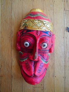 Amazing Vintage Wood Monkey Mask - Balinese