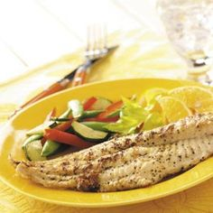 Lemon-Pepper Catfish  I,m sure you could use this recipe for any kind of fresh water fish. Will have to try,, sounds good.