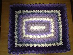 bavarian crochet | Bavarian Crochet Baby Pram Blanket in Lovely Lilacs | My sutff