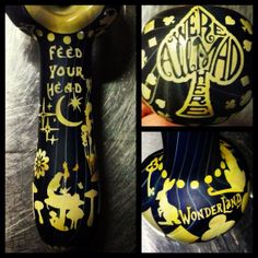 Alice in Wonderland Glass Pipe ...Made to Order by ESPfabrications, $125.00