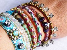 bavaria  festival multistrand layered bracelet pastell by ellivira, $79.00