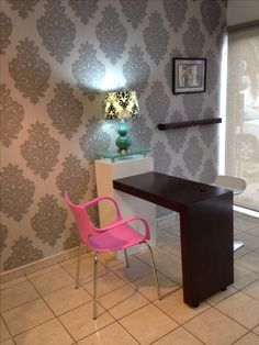 Beauty Salon design nails area. Needs a table with drawers and a towel area.